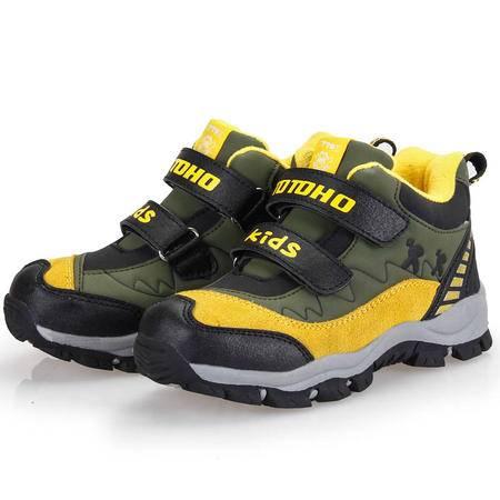 童鞋冬季加厚保暖大童棉鞋男童棉鞋户外鞋登山鞋大童鞋