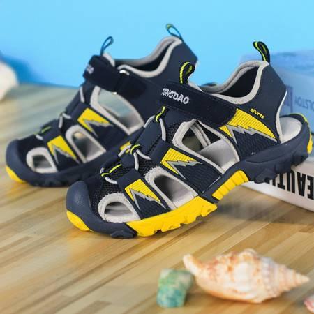 男童包头凉鞋中大童夏季镂空沙滩鞋正品