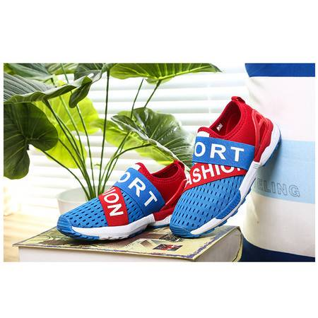 春夏季新款儿童网鞋透气大男童运动鞋跑步鞋