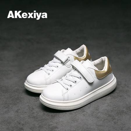 韩版新款儿童鞋女童板鞋亮皮休闲鞋男童低帮运动鞋时尚潮鞋学生鞋