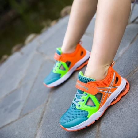 夏季新款网布鞋透气单网鞋中童男女运动鞋弹簧底框子鞋