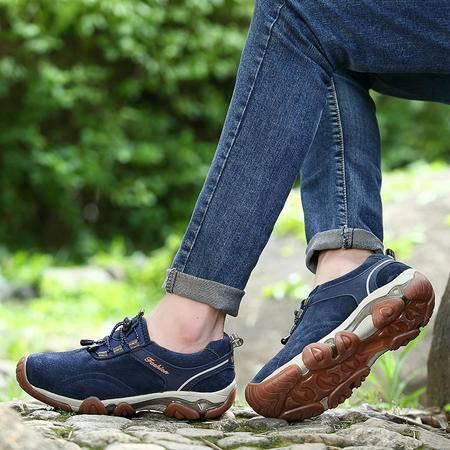 春秋季男士透气户外登山鞋耐磨防水防滑徒步鞋越野运动男鞋旅游鞋