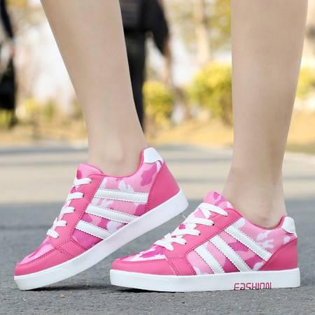 女鞋春秋单鞋2016新款运动板鞋学生休闲鞋潮网布透气内增高单鞋
