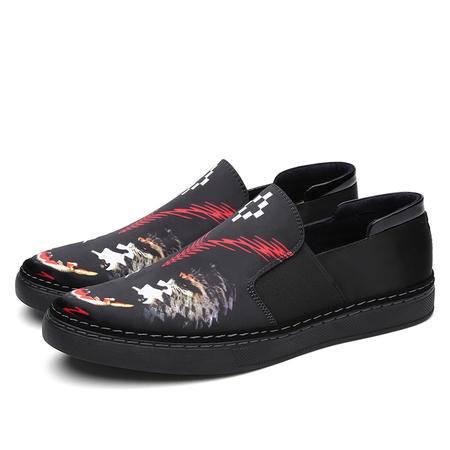 小伙时代鞋子精神社会小伙休闲豆豆鞋单鞋布鞋夜店潮男鞋子帆布鞋