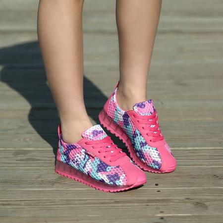 夏季女鞋运动鞋时尚云彩网布透气休闲鞋跑步鞋学生旅游鞋果冻鞋潮
