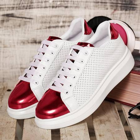 夏季韩版运动休闲鞋女镂空厚底板鞋小白鞋潮