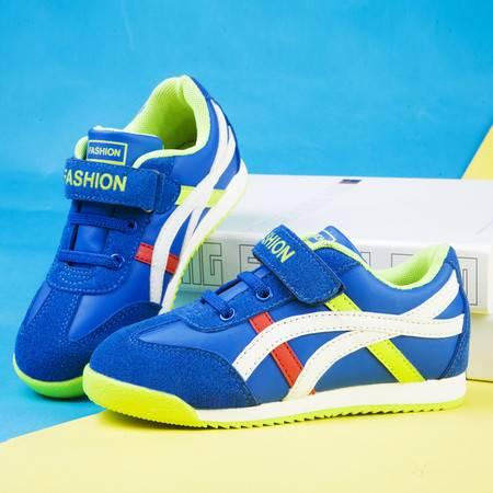 童鞋男童鞋 儿童运动鞋春秋款 跑步鞋女童单鞋透气真皮板鞋中大童