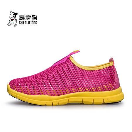 2016霹雳狗夏季新款男童鞋儿童网布网孔透气休闲鞋跑步鞋包头凉鞋