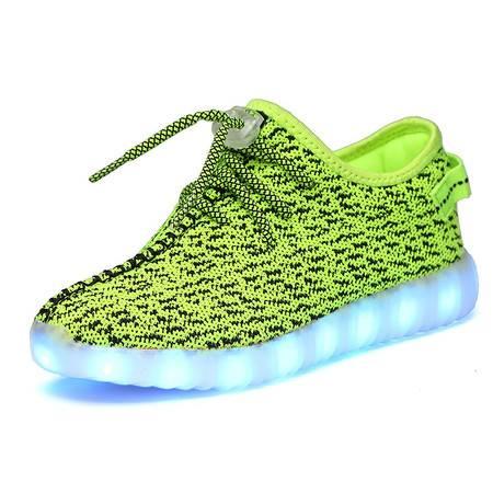 儿童灯鞋led发光鞋夏男童灯鞋网面透气女童夜光鞋充电七彩发光鞋