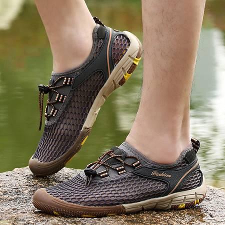 夏季网面运动鞋户外休闲鞋男鞋溯溪涉水鞋透气镂空网鞋