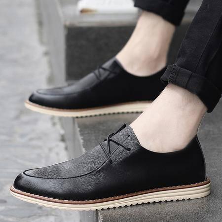 新款夏季男鞋透气豆豆鞋百搭小白鞋男休闲鞋潮流板鞋英伦皮鞋