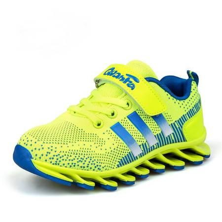 童鞋儿童夏季网布透气儿童男女中大童刀锋底运动减震跑步鞋子