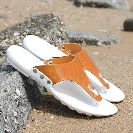 凉鞋男鞋子沙滩鞋休闲鞋露趾透气防滑夏季懒人鞋人字拖透气男士鞋