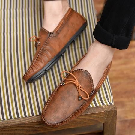 2016春夏新款男士韩版潮一脚蹬懒人鞋男豆豆鞋英伦商务男士驾车鞋