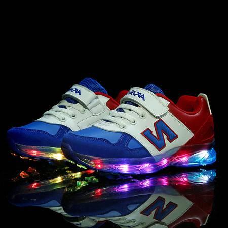 儿童运动鞋闪灯鞋秋冬男童女童鞋usb充电灯鞋led发光鞋休闲鞋子