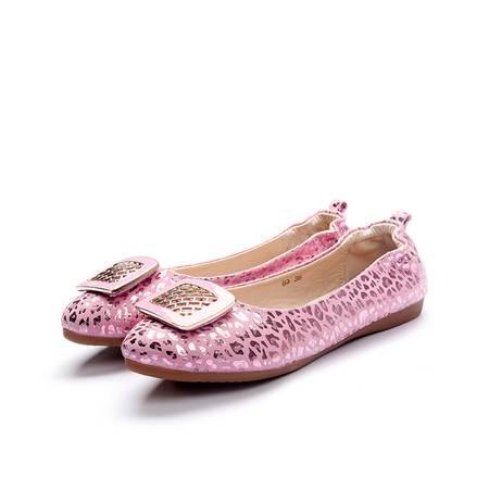 豆豆鞋女夏真皮女鞋平跟浅口休闲鞋平底软口百搭时尚气质低帮女鞋