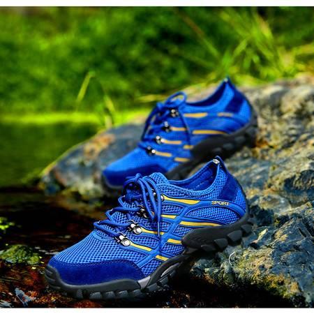 男鞋户外登山鞋青春潮流休闲运动鞋网面透气涉水速干溯溪鞋