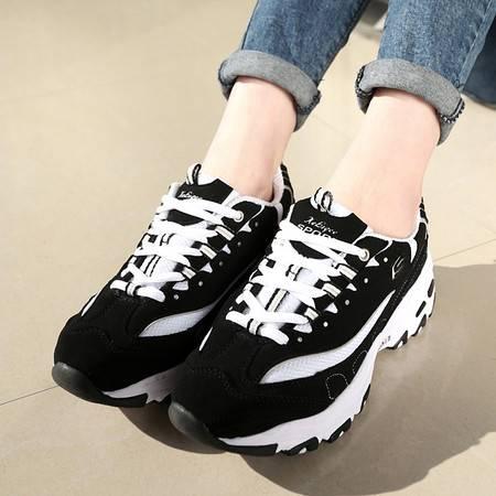 春夏季情侣鞋黑白牛奶鞋韩版运动鞋增高厚底学生男鞋气垫熊猫潮鞋