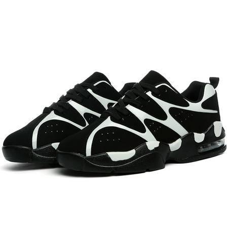 秋冬季情侣校园青少年篮球鞋增高保暖奶牛鞋学生运动