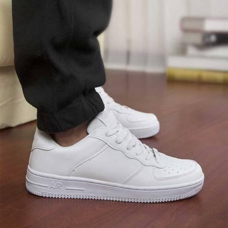 休闲男鞋运动女鞋贝壳头韩版白色系带学生鞋男士百搭低帮情侣板鞋