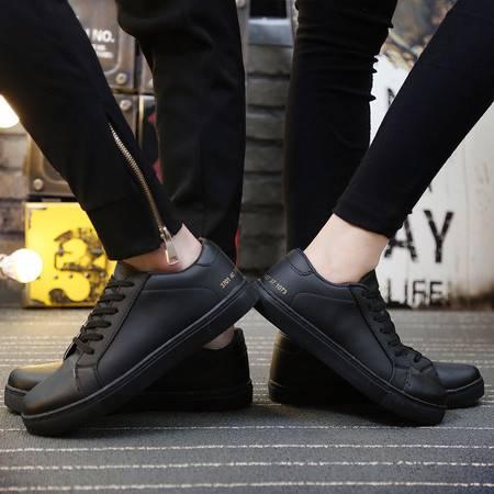2016春新款潮系带纯色板鞋低帮运动韩版男女同款百搭小白鞋男学生