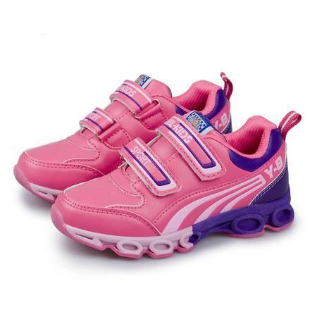 魔术贴新款女童鞋中童鞋儿童防滑减震男大童运动休闲鞋