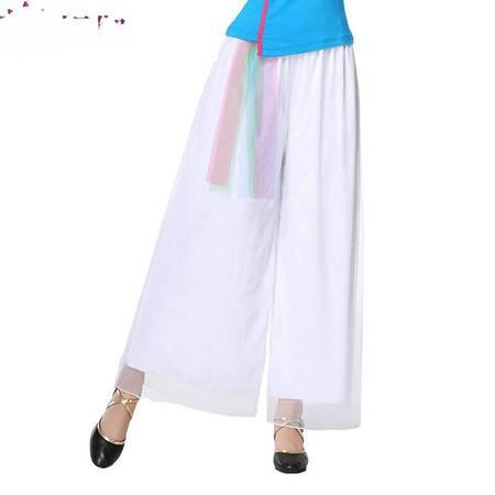 2016媞伽广场舞服装夏季新款网纱长裤短裙跳舞牛奶丝裤子233/235