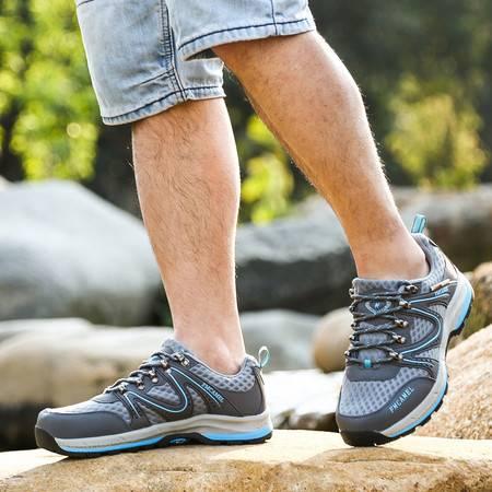 2016索迈春夏季新款 男鞋户外鞋防水防滑网面透气耐磨登山徒步鞋