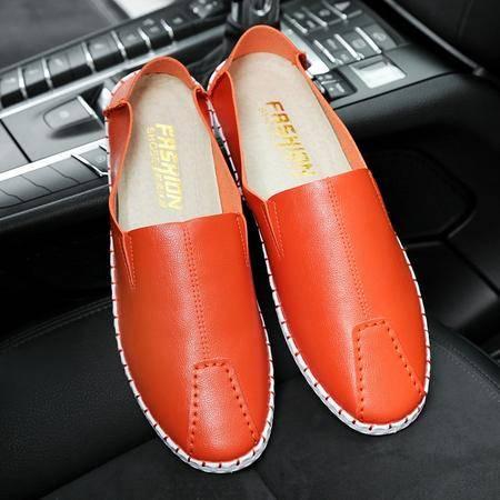 2016夏季男士豆豆鞋韩版透气皮鞋休闲鞋套脚驾车鞋流行男鞋潮鞋子