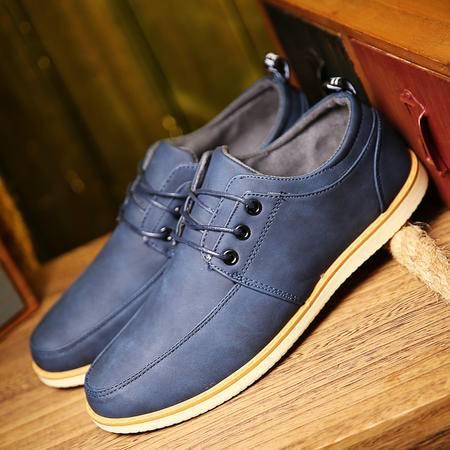 夏季透气男鞋青春潮流复古小皮鞋青年英伦休闲日系发型师百搭潮鞋