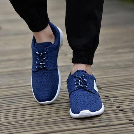 2016夏季新款男鞋休闲运动鞋轻便平底透气椰子鞋飞线韩版男鞋 潮