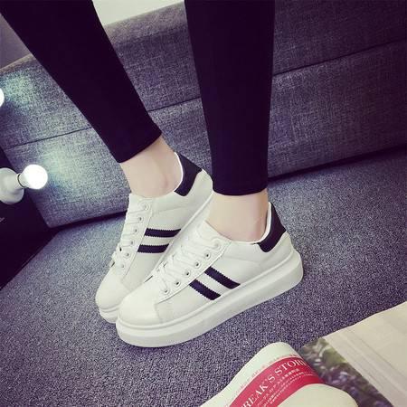 2016春季新款女鞋白色韩版休闲运动鞋女板鞋平底单鞋跑步小白鞋潮