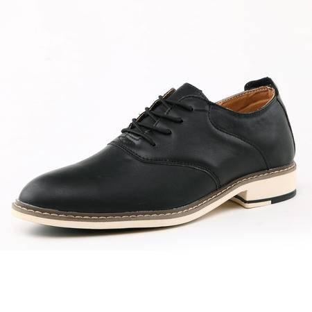高鞋新款秋冬季尖头皮鞋英伦潮流男士休闲鞋青春潮流男鞋子系带增