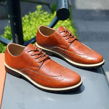春夏季透气英伦风男士商务休闲鞋小皮鞋青少年时尚增高潮流男鞋子