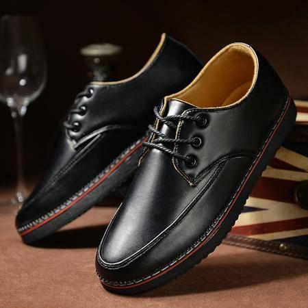 春季新款男士日常休闲鞋潮流布洛克英伦风皮鞋复古男鞋林弯弯潮鞋