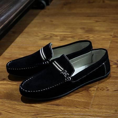 春季豆豆鞋男鞋透气英伦驾车鞋青年男士休闲鞋皮鞋男潮鞋懒人鞋男