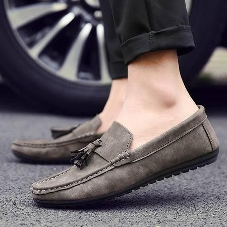 夏季新款英伦男士豆豆鞋时尚复古流苏透气皮鞋驾车鞋男鞋子休闲鞋