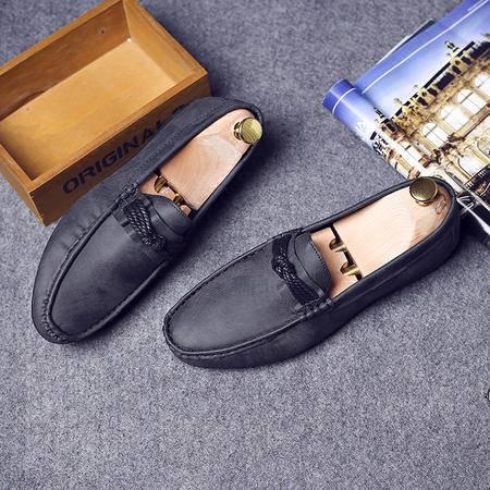 夏季新款休闲鞋男韩版潮流蛋卷鞋英伦真皮男士豆豆鞋懒人驾车鞋子