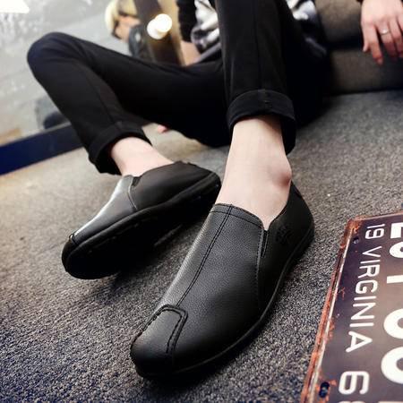 2016夏季男士一脚套懒人蹬潮鞋韩版豆豆鞋男驾车鞋透气休闲鞋皮鞋