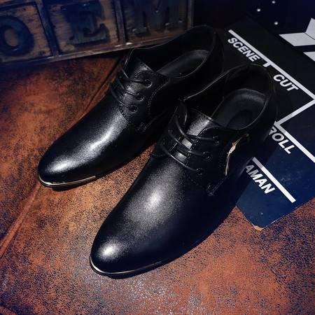 夏季英伦夜店发型师皮鞋男士韩版潮流尖头小皮鞋商务休闲白色婚鞋