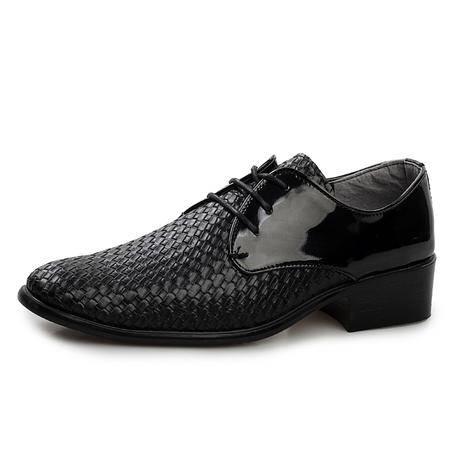 男士尖头皮鞋男英伦时尚潮男鞋子商务休闲皮鞋单鞋高跟鞋