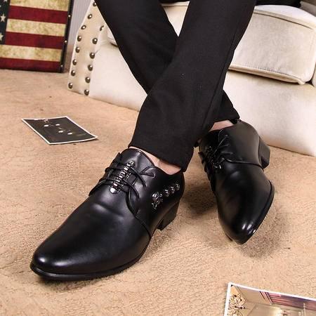 男鞋秋季商务正装皮鞋男士真皮透气英伦休闲系带鞋子皮鞋