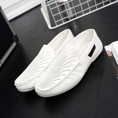 2016新款夏季透气镂空豆豆鞋韩版潮流休闲皮鞋百搭学生潮鞋男鞋子