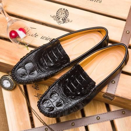 夏天韩版潮流男鞋子一脚蹬懒人蹬夏季透气男士休闲豆豆鞋青年潮鞋