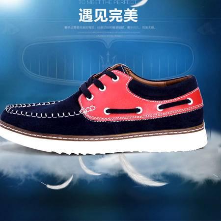 2016新款豆豆鞋男真皮英伦潮鞋男休闲鞋爸爸鞋真皮一脚蹬懒人鞋