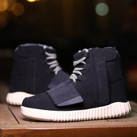 权志龙高帮冬季男鞋休闲鞋加绒厚底品牌情侣鞋棉鞋