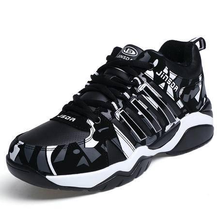 男鞋秋冬季青少年运动鞋高中初中学生跑步鞋冬天潮鞋加绒棉鞋