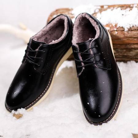 男士皮鞋男真皮潮鞋保暖加绒男鞋冬季棉鞋韩版
