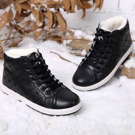 2016冬季女棉鞋高帮加绒加厚女鞋韩版运动休闲保暖