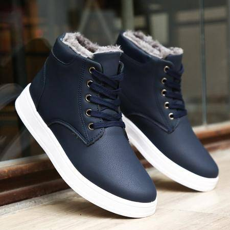 冬季新款男士棉鞋韩版潮休闲鞋二棉板鞋学生加绒加厚保暖男鞋子